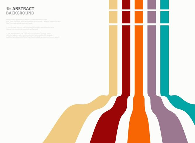 Motif de lignes ondulées verticales colorées abstraites vecteur