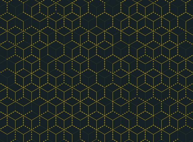 Motif hexagonal abstrait simple et minimal de couleur or vecteur
