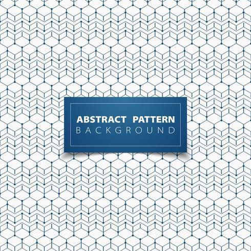 Motif hexagonal abstrait contour empilé bleu vecteur