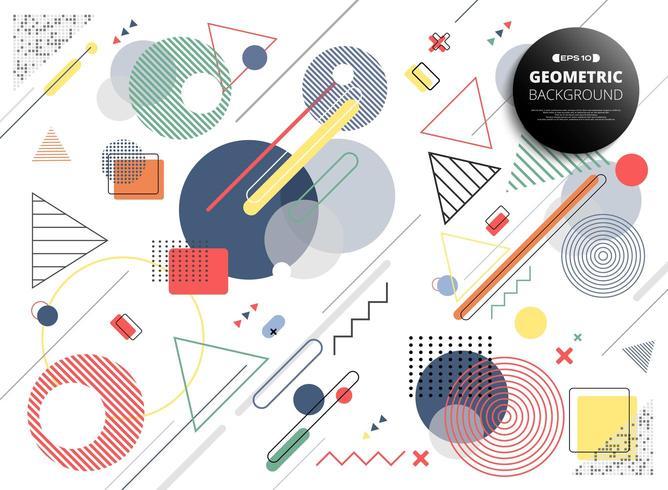 Memphis géométrique coloré abstrait vecteur