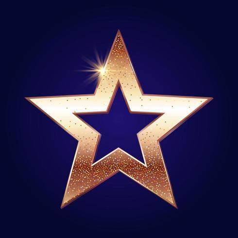 Fond d'étoiles brillantes d'or vecteur