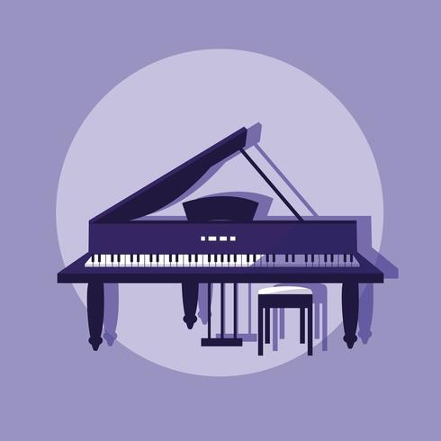 icône d'instrument classique piano vecteur