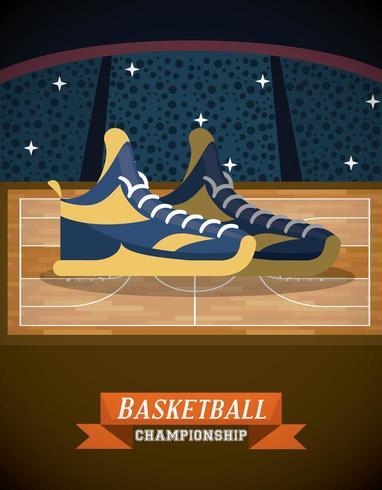 Affiche du match de championnat de basket vecteur