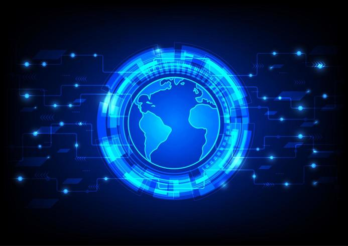 Tableau d'utilisateurs mondial futuriste vecteur