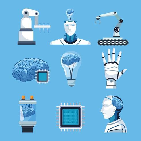 Éléments d'intelligence artificielle vecteur