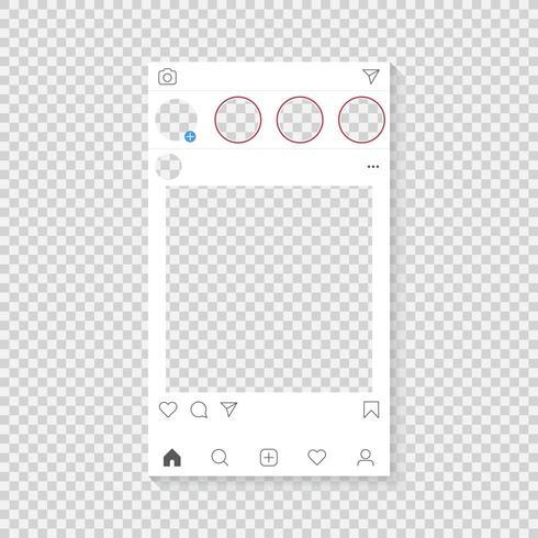Modèle d'application photo vecteur