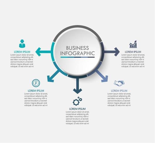 Modèle d'affaires flèche Business Circle vecteur