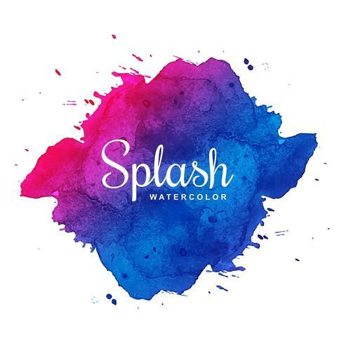 Aquarelle splash coloré tache d'encre vecteur