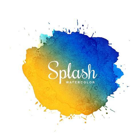Splash aquarelle tache avec design multicolore vecteur