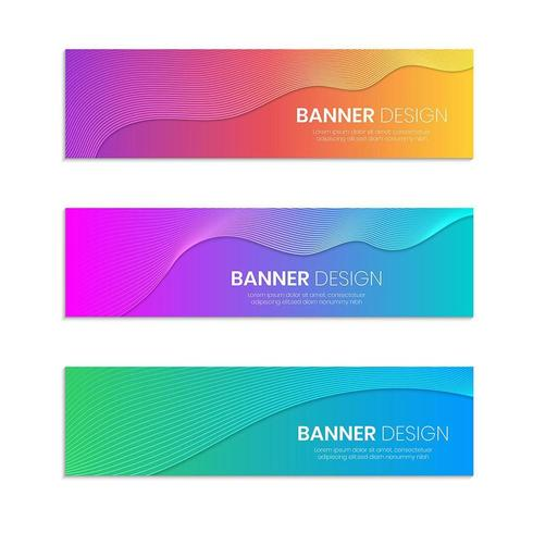 modèles de conception de bannière Web vecteur
