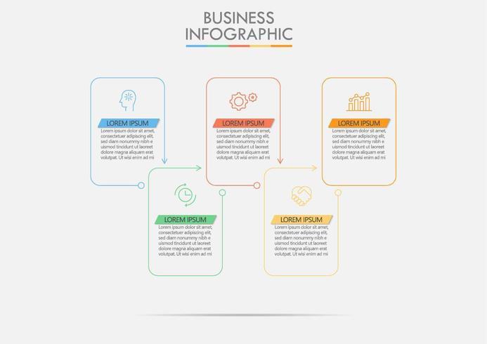 Modèle infographique de l'entreprise vecteur