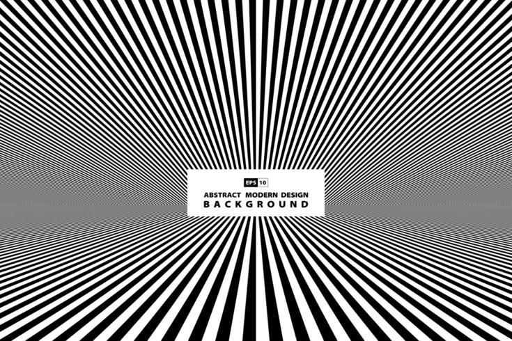 Couverture de perspective en noir et blanc vecteur