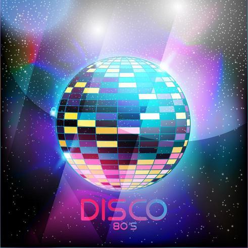 Néo style disco design rétro des années 80 vecteur