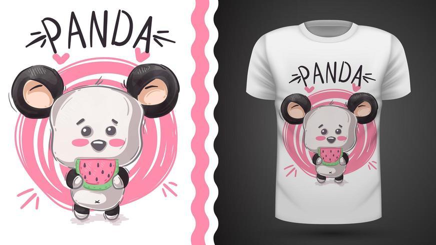 Tee-shirt mignon panda, ours - idée d'impression vecteur