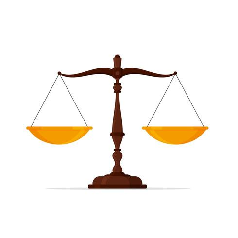 Icône d'échelles de la justice vecteur