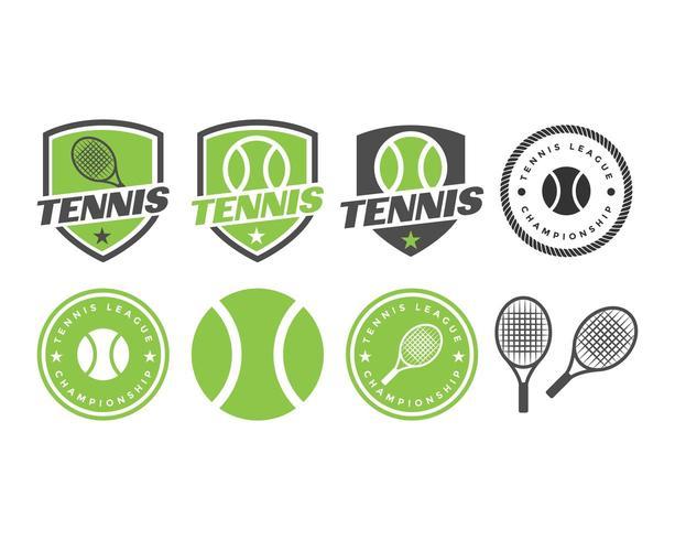 Jeu de logo de sport de tennis vecteur