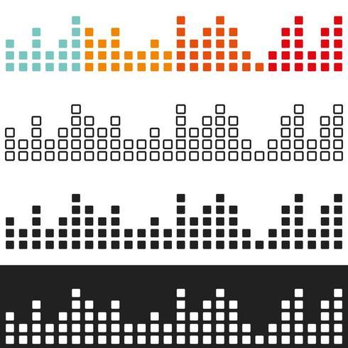 Égaliseur graphique de volume coloré vecteur