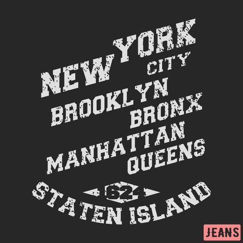 Timbre de la ville de new york vecteur