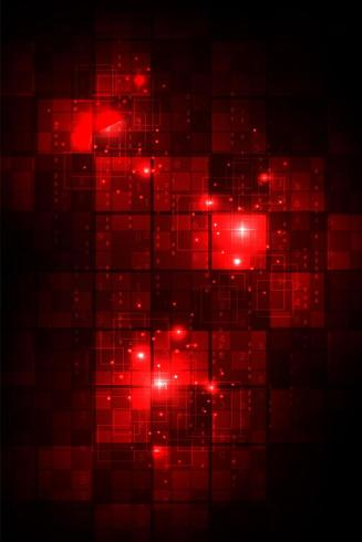 Concept numérique rougeoyante tech abstraite rouge vecteur