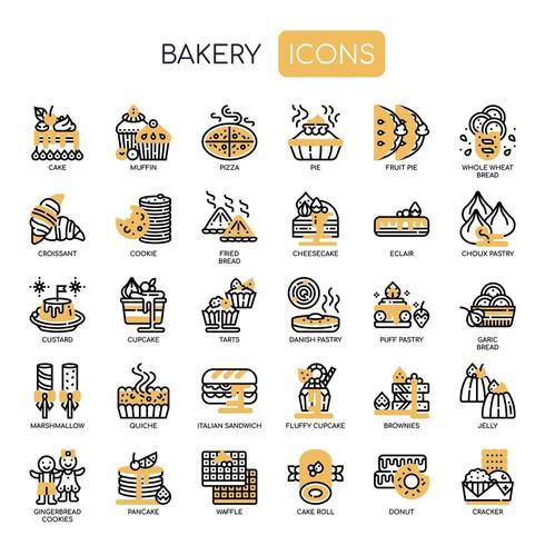 Boulangerie, Pixel Perfect Icons vecteur