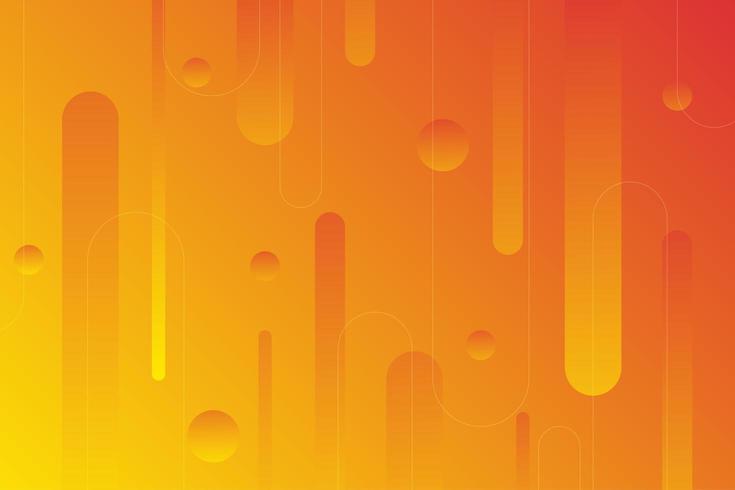 Fond de formes arrondies abstraites orange et jaune vecteur