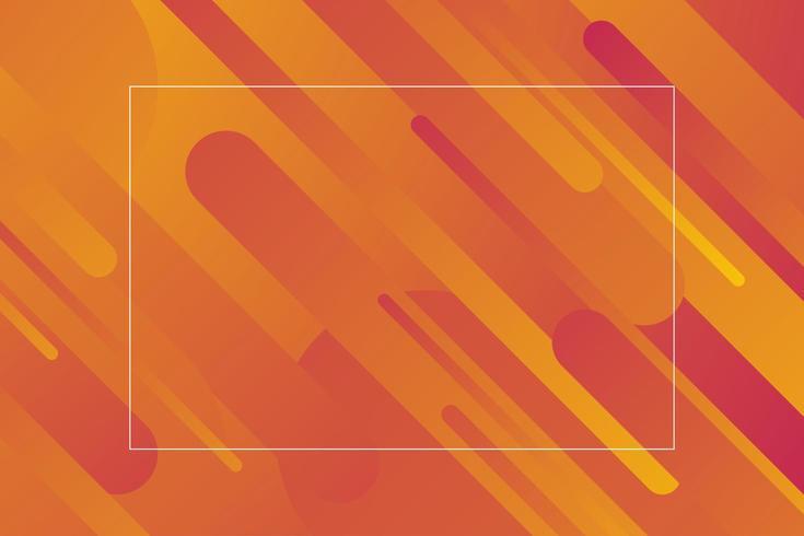 Formes géométriques abstraites diagonales jaunes orange vecteur