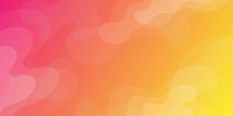 Fond fluide abstrait rose orange et jaune vecteur