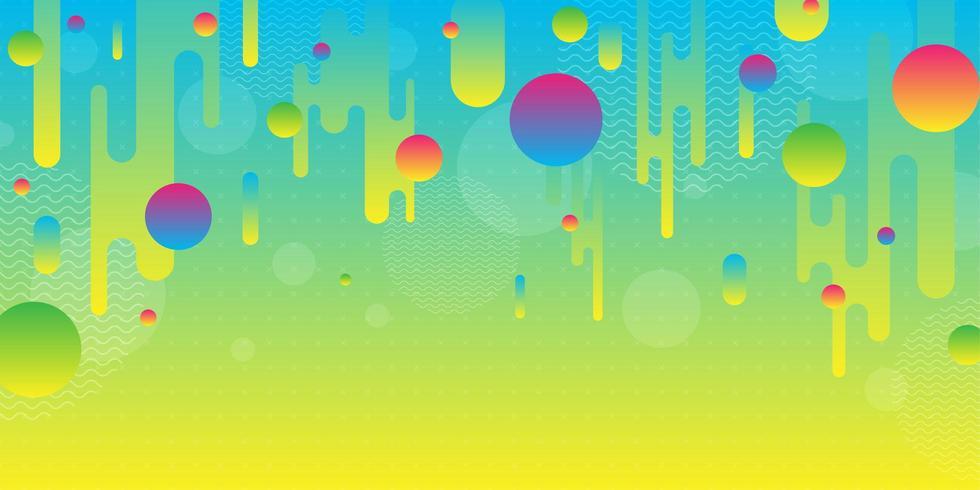 Formes géométriques dégradé abstrait coloré vecteur