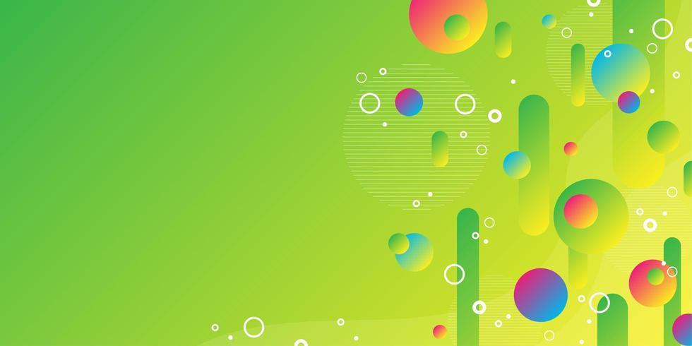 Fond de formes géométriques flottant abstrait coloré vecteur