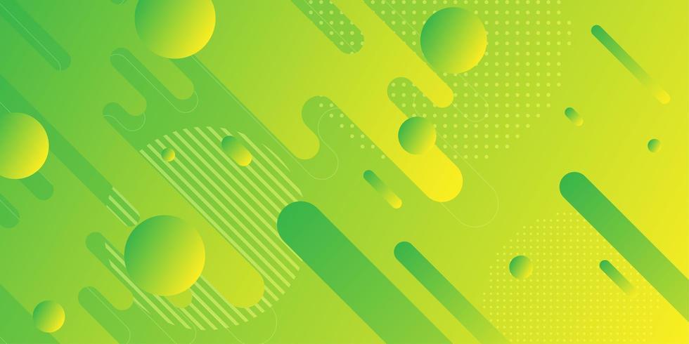 Formes géométriques abstraites vertes jaunes vecteur