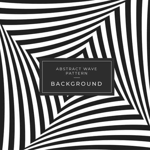 Motif de vagues d'illusion d'optique abstraite noir et blanc vecteur