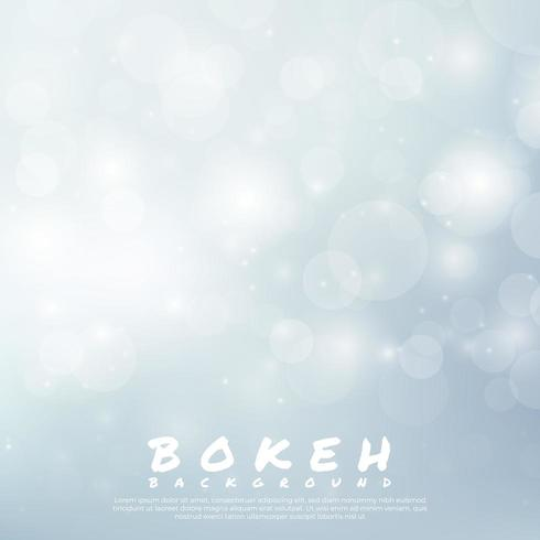Conception de lumière blanche de fond Bokeh vecteur