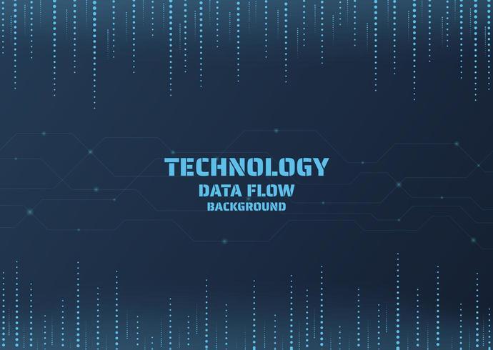 Fond de données de points de technologie vecteur