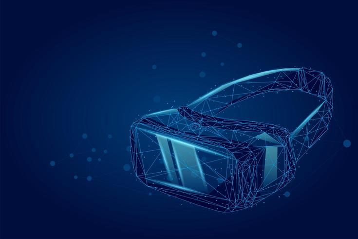 Casque de réalité virtuelle projection holographique casque VR vecteur
