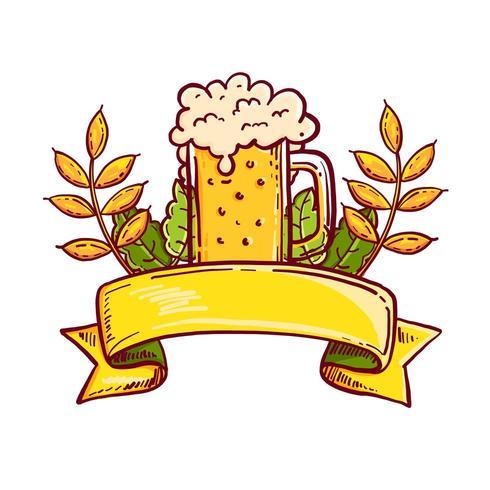 Logo de la fête d'Octobrefest vecteur