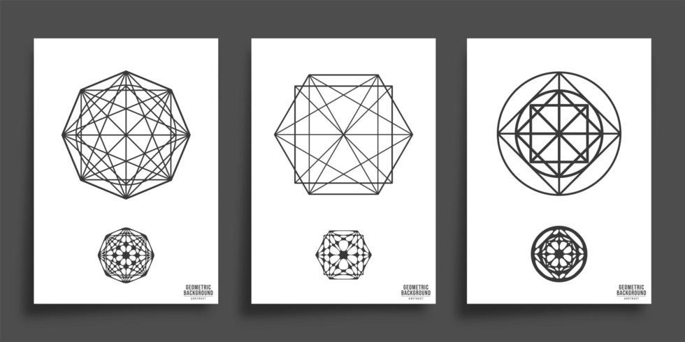 Ensemble de formes géométriques minimales vecteur