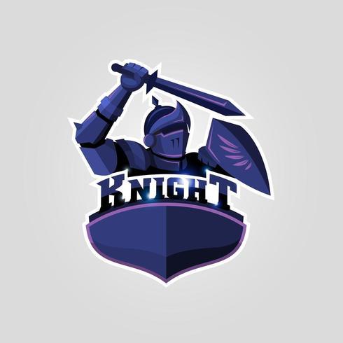 Logo chevalier esport vecteur
