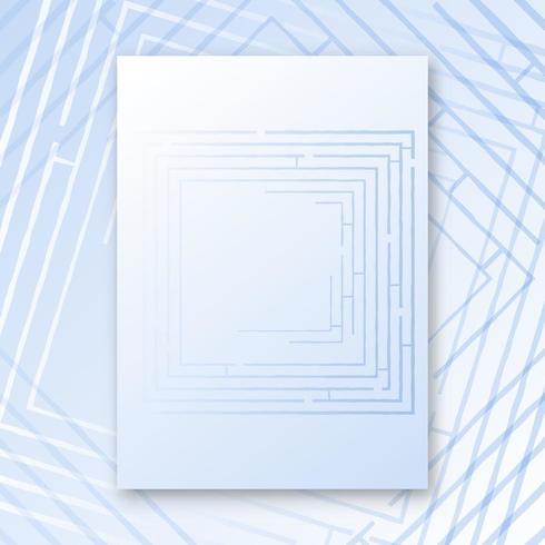 Affiche intérieure du labyrinthe vecteur