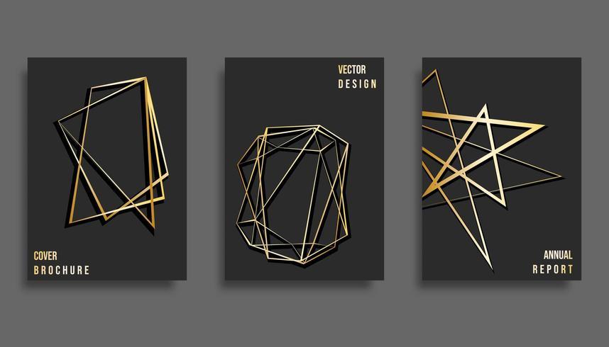 Ensemble de conception de modèle de couverture abstraite vecteur