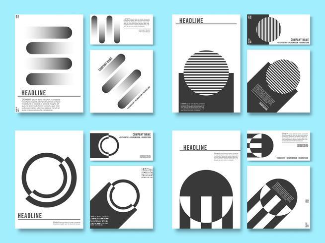 Fond de conception géométrique minimale pour les produits d'impression vecteur