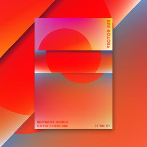 Modèle de couverture de brochure vecteur