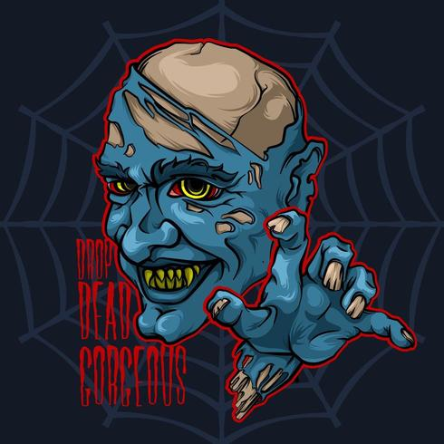 Démon diabolique vampire zombie vecteur