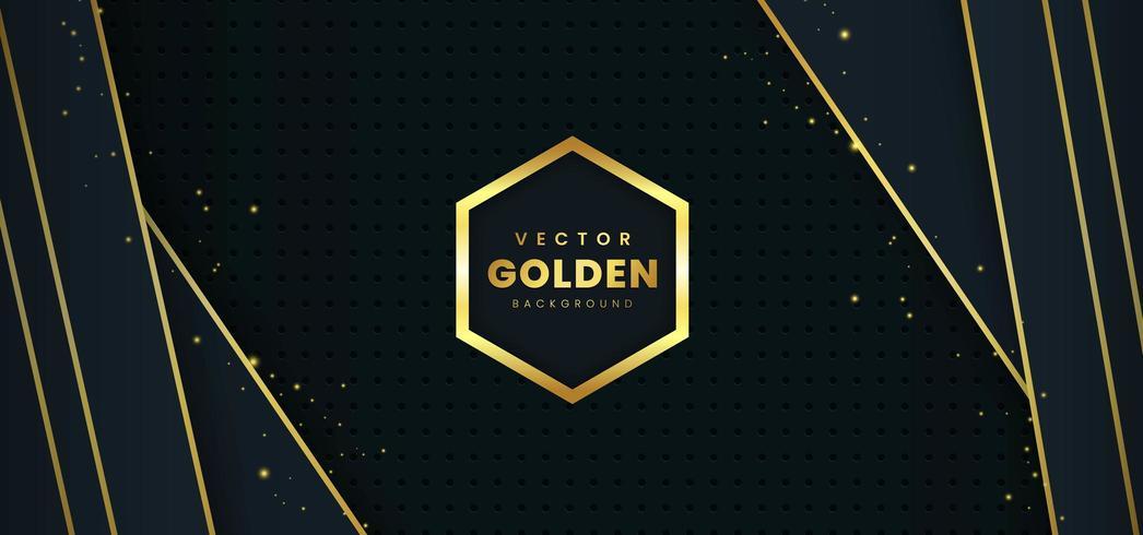 Fond de luxe avec le vecteur d'or