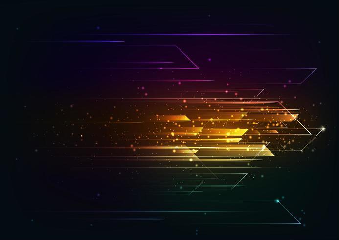 Salut-tech coloré motif de mouvement de vitesse et de mouvement. vecteur