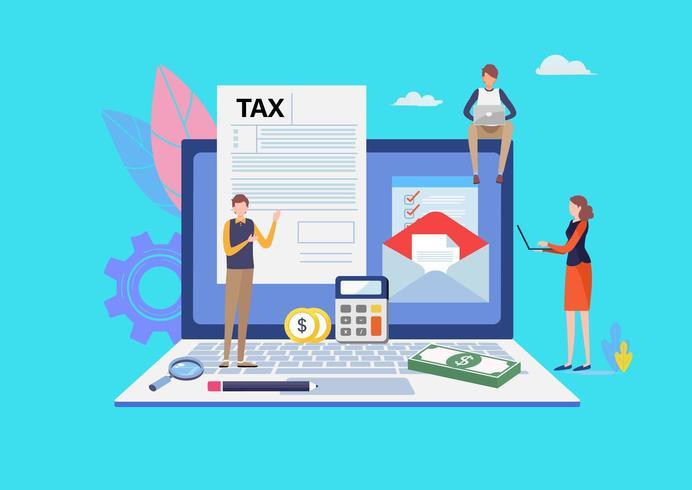 Paiement de taxe en ligne vecteur