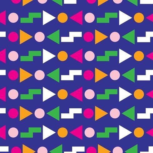 Motif géométrique sans soudure des années 80 vecteur