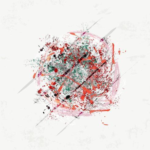 Fond moderne d'art abstrait vecteur