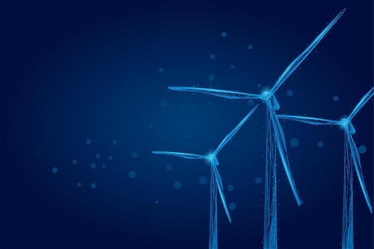 Trois moulins à vent vecteur