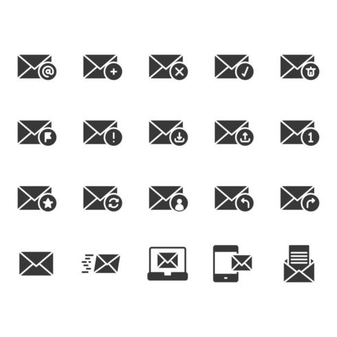 Jeu d'icônes de messagerie vecteur