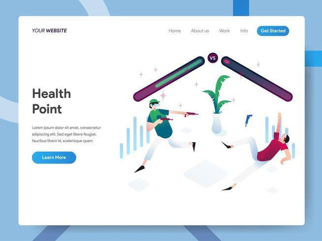 Modèle de page de destination du point de santé vecteur
